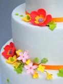 תמונה של עוגת חתונה פריחה אביבית