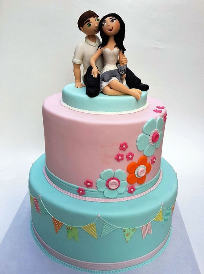 תמונה של עוגת חתונה אני את והחתול