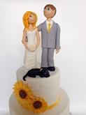 תמונה של עוגת חתונה חמניות
