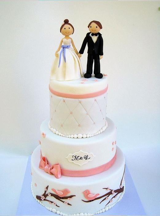 תמונה של עוגת חתונה בהשראת ההזמנה