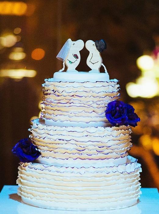 תמונה של עוגת חתונה המומינים