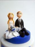 תמונה של עוגת חתונה אני אתה והחתול