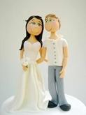 תמונה של עוגת חתונה בסגנון נאיבי