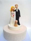 תמונה של עוגת חתונה אני, אתה והכלב