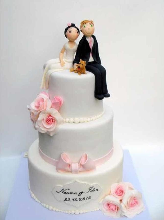 תמונה של עוגת חתונה עדינה