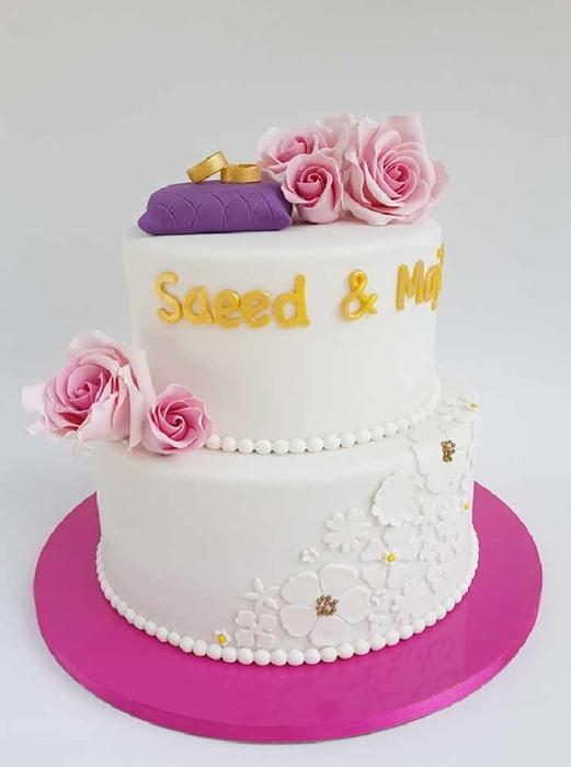 תמונה של עוגת חתונה כרית טבעות