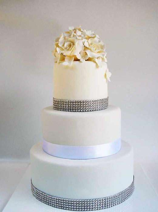 תמונה של עוגת חתונה יהלומים לנצח