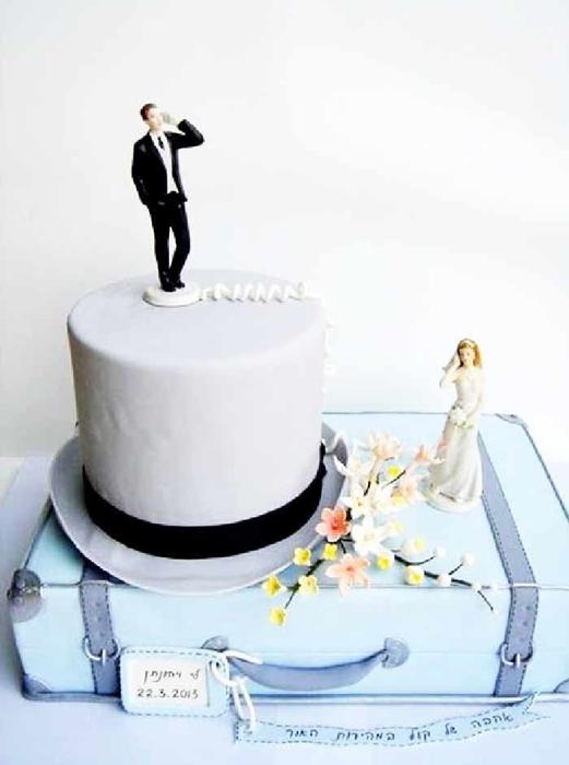 תמונה של עוגת חתונה כך נפגשנו