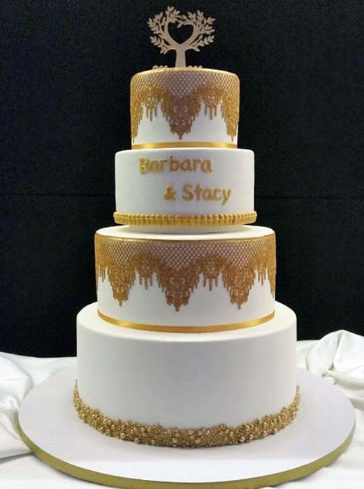 תמונה של עוגת חתונה מלכותית
