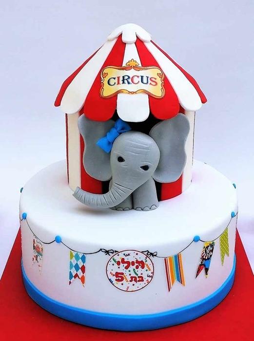 תמונה של עוגת יום הולדת קרקס