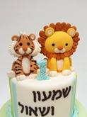 תמונה של עוגת יום הולדת לתאומים