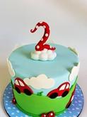 תמונה של עוגת יום הולדת מכוניות