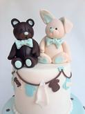 תמונה של עוגת ברית לתאומים
