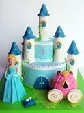 תמונה של עוגת יום הולדת סינדרלה