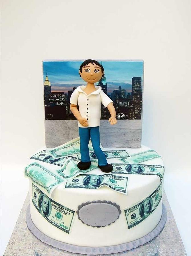 תמונה של עוגת יום הולדת ניו יורק