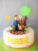 תמונה של עוגת יום נישואין 60