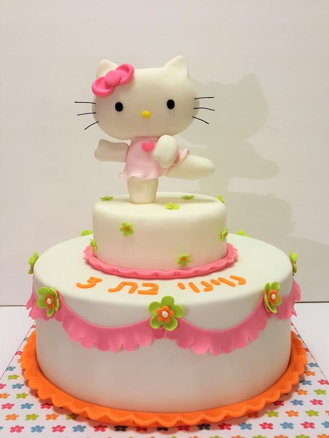 תמונה של עוגת יום הולדת קיטי רקדנית