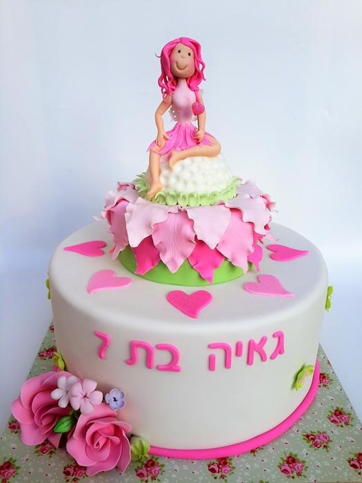 תמונה של עוגת יום הולדת פייה