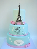 תמונה של עוגת חתונה אהבה בפריז