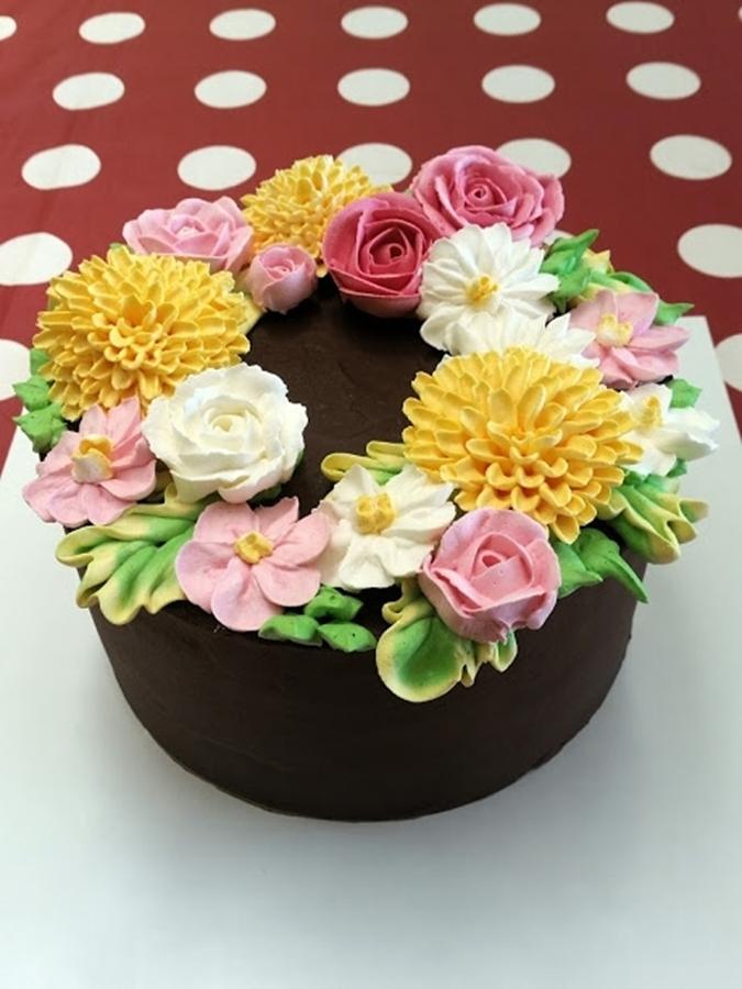 תמונה של 58 עוגת יום הולדת פרחים