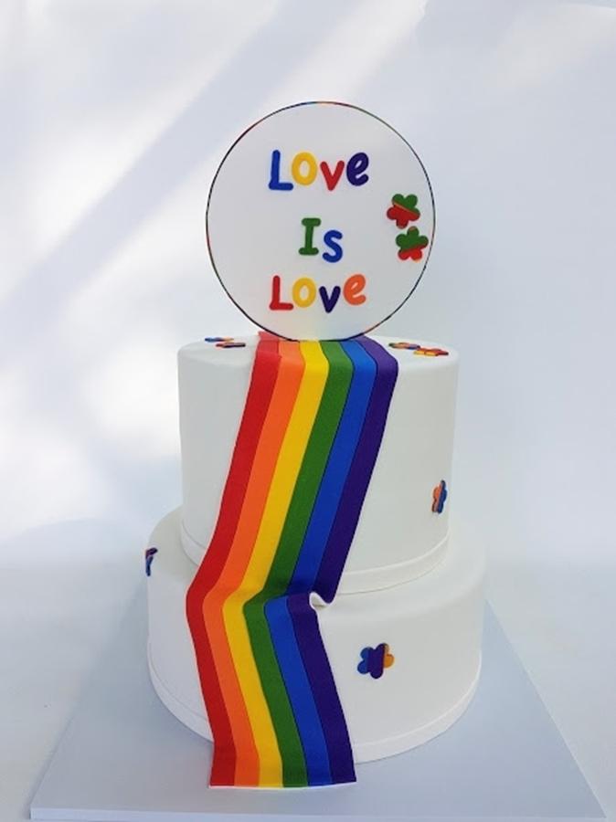 תמונה של עוגת חתונה גאה