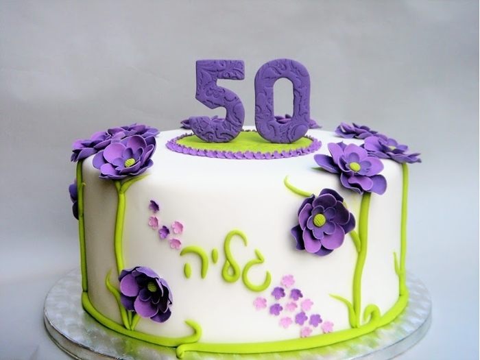תמונה של עוגת יום הולדת 50