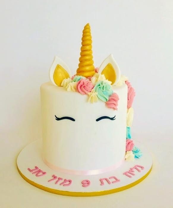 תמונה של עוגת יום הולדת חד קרן