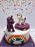 תמונה של עוגת יום הולדת סוסי פוני