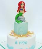 תמונה של עוגת יום הולדת בת הים הקטנה