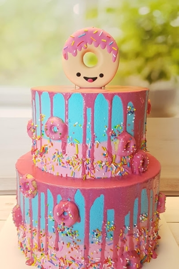 תמונה של עוגת בת מצווה דונאטס