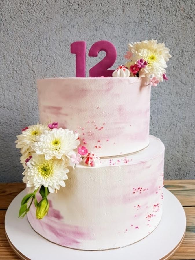 תמונה של עוגת בת מצווה חגיגית