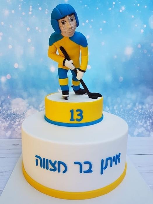 תמונה של עוגת בר מצווה הוקי