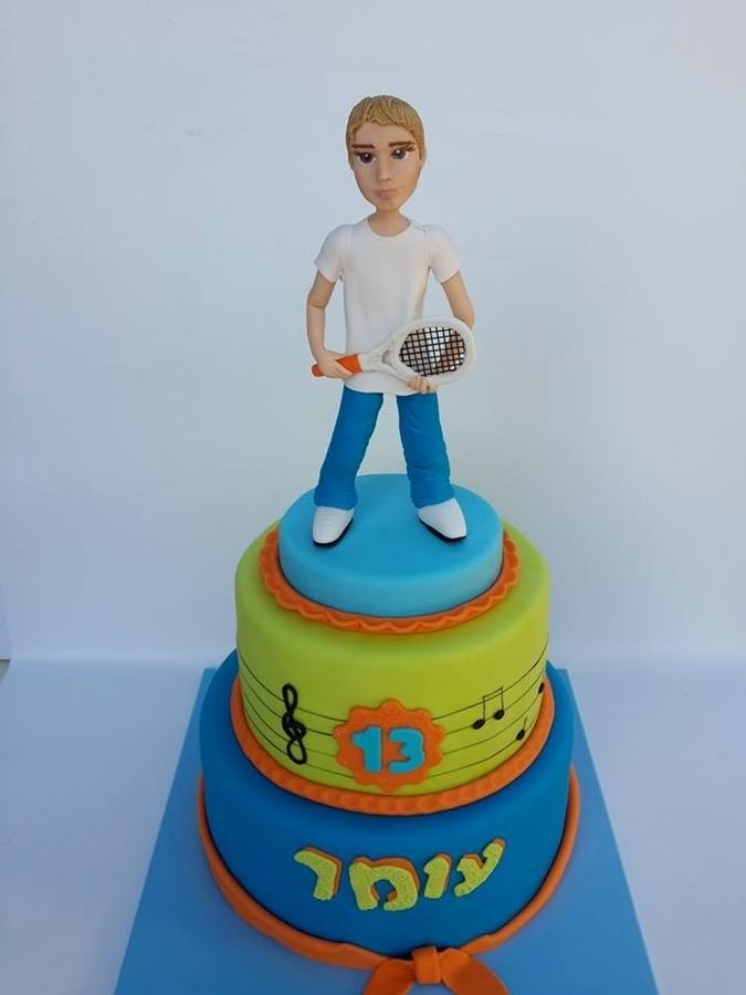 תמונה של עוגת בר מצווה טניס