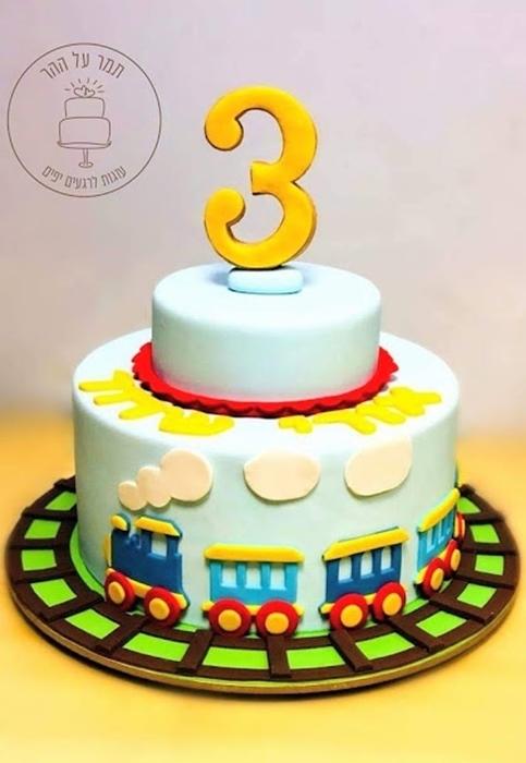 תמונה של עוגת יום הולדת רכבת