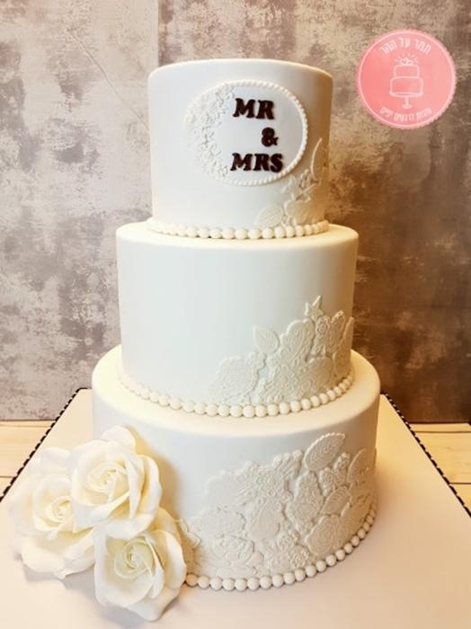 תמונה של עוגת חתונה 2 צדדים