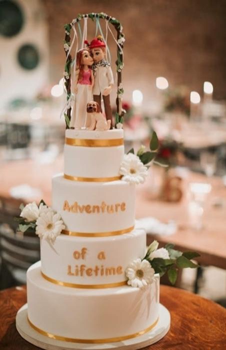 תמונה של עוגת חתונה מתחת לחופה
