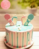 תמונה של עוגה לגילוי מין היילוד