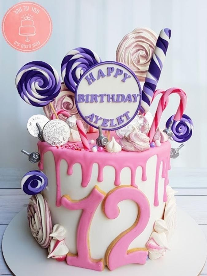 תמונה של עוגת בת מצווה ממתקים